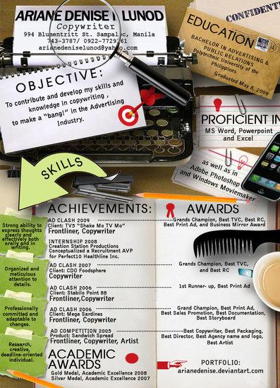 Creative Resume by Ariane Denise