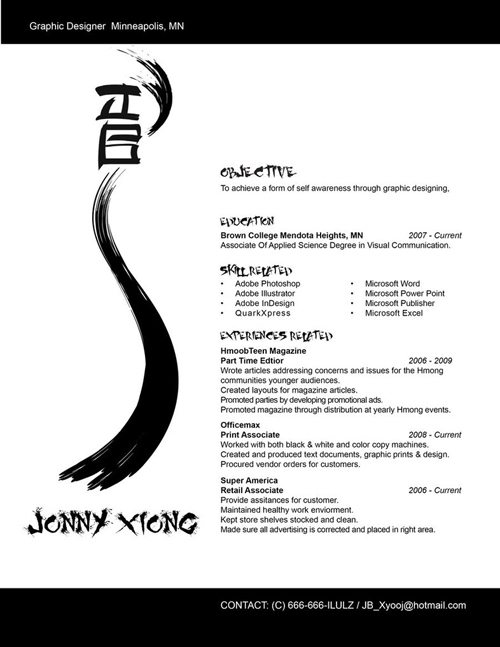 Creative Resume by NoviceXyooj
