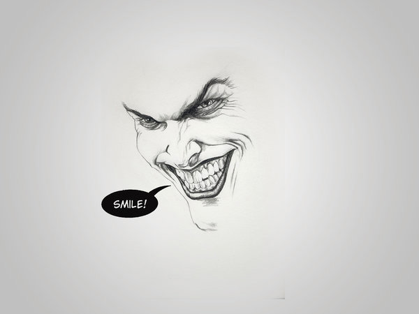 Minimal Joker by Andre Garrido 60 Beautiful Minimalist Desktop Wallpapers