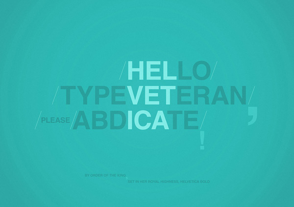 Type Veteran by Radu Ceuca 60 Beautiful Minimalist Desktop Wallpapers