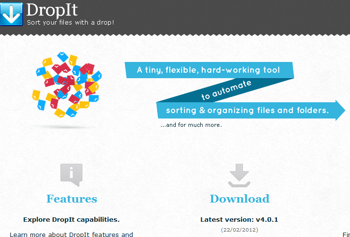 DropIt - Automatic File Organizer To Sort Your Files