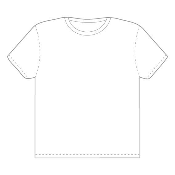 Vector Tshirt Template From Threadless