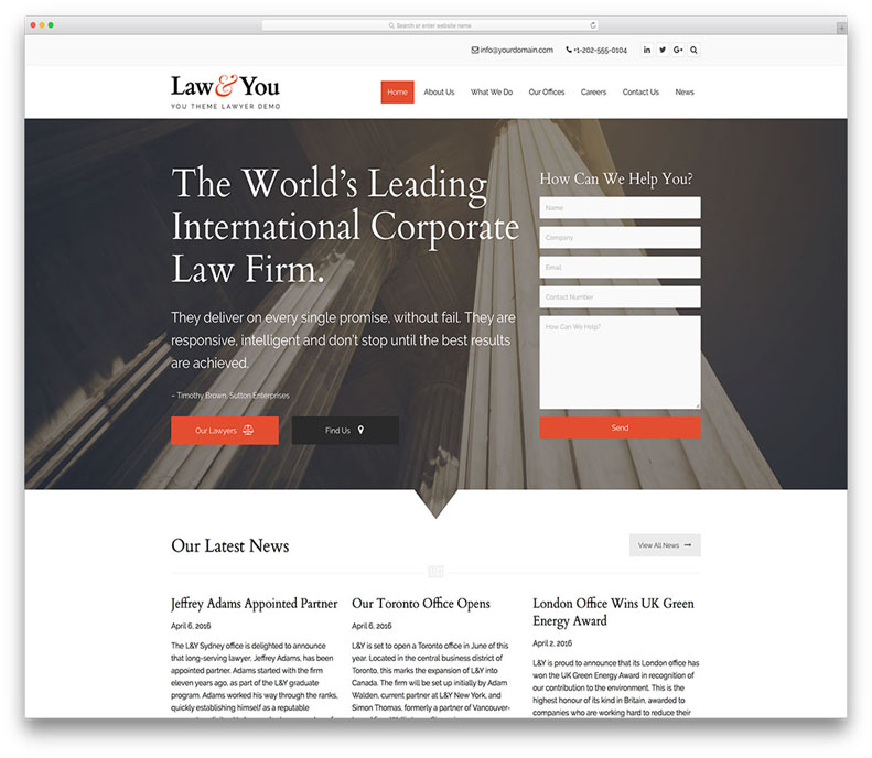 Top 5 WordPress Themes For Lawyers